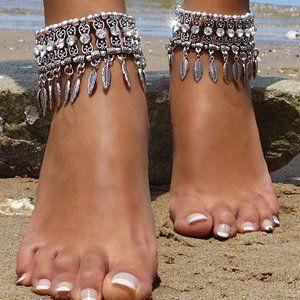 Bracelet Bohemian Tassel Barefoot Sandals Chain